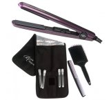 Silver Bullet Black Crystal Hair Straightener Purple + Bonus Ite